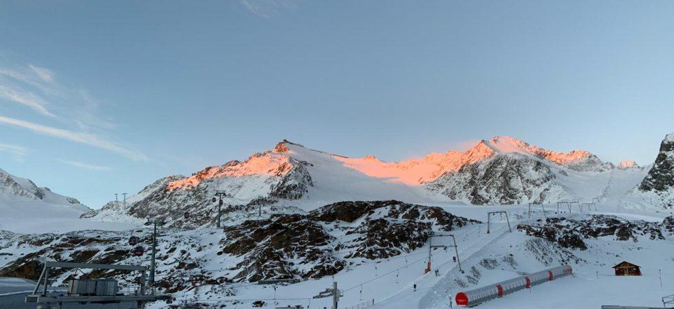 Pitztaler Gletscher zum Sonnenaufgang